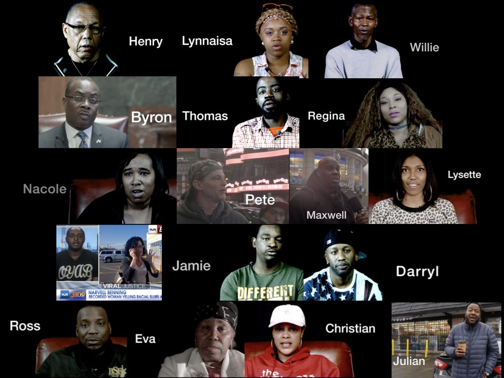 The names and photos of people appearing in the film The Blackness Project.